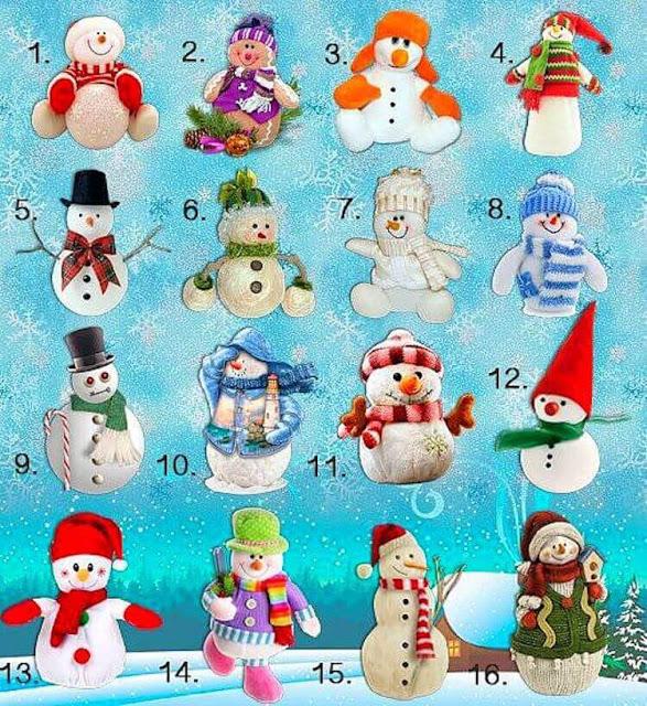 Забавный зимний тест: выберите снеговика и узнайте какая Вас ждет зима