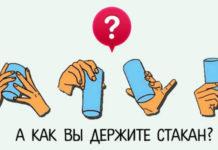 Психологический тест: как мы держим стакан