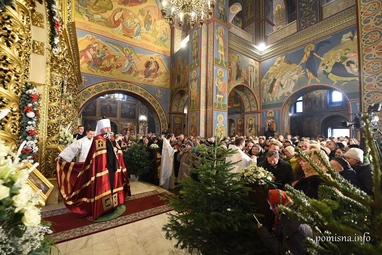 Рождественская литургия в Православной церкви Украины
